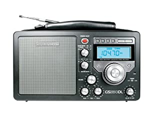 Grundig/Eton S350 AM/FM/Shortwave Field Radio with Alarm Clock and Sleep Timer, Variable RF Gain Control, Full-Range Speaker, Bass and Treble Controllers - Black (NGS350DLB)