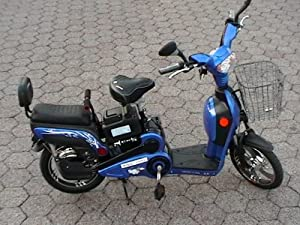 Electric Moped Bikes +Scooter Style 2 Adult Seats+pedal+battery 20 Mile Range (Model: Class 5) Black, Blue, Red, Silver color available