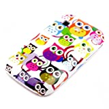 DeinPhone AR-490016 Samsung Galaxy Pocket S5300 Protective Case Small Colourful Owls Rings