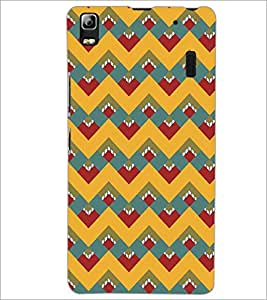 PrintDhaba Pattern D-5116 Back Case Cover for LENOVO A7000 (Multi-Coloured)