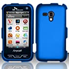 3-in-1 Bundle For Samsung Galaxy Rush - Hard Case Snap-on Cover (Blue)+ICE-CLEAR(TM) Screen Protector Shield(Ultra Clear)+Touch Screen Stylus