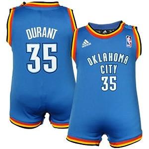 Kevin Durant Oklahoma City Thunder NBA Infant Jersey Creeper Blue