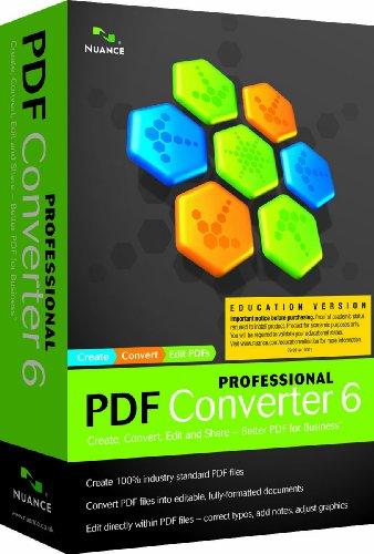 PDF Converter Professional 6.0, English, Educational Online Validation License (PC DVD)