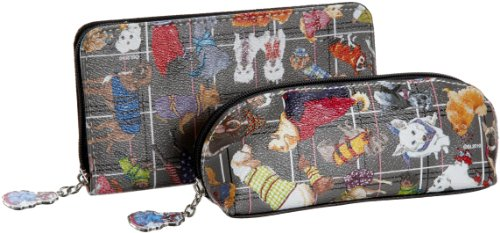 Sydney Love Diva Dogs Cosmetic Bag and Wallet Set