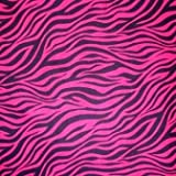 Hot Pink & Black Wild Fabric Shower Curtain With 12 Pc Resin Hook Set