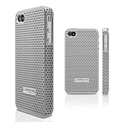 elago S4 BREATHE Case for AT&T and Verizon iPhone 4/4S -Silver