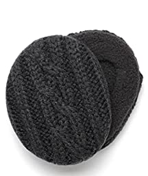 Sprigs Earbags Cable Knit with Thinsulate, Black, Medium