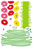 Reusable Decoration Wall Sticker Decal - Growing Flowers