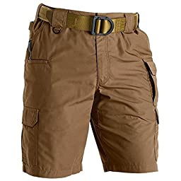5.11 Men\'s Taclite 11-Inch Inseam Shorts, Battle Brown, 36-Waist