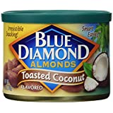 Blue Diamond Almonds-toasted Coconut Flavor, 6oz-pack of 6 Cans