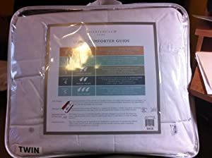 Charter Club Bedding, Level 4 Vail Elite Twin Goose Down Comforter White