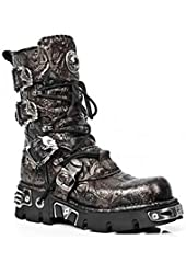 New Rock 391-s26 Mens All Leather Patterned Biker Boots