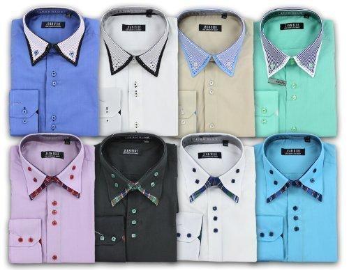 chemise en jean jean blue chemise homme jean habill style italien bureau mariage soir e. Black Bedroom Furniture Sets. Home Design Ideas