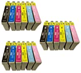 3X T 807 COMPATIBLE INK CARTRIDGES TO REPLACE EPSON PX810FW PRINTER - Double Capacity Latest Chip - Pack Replaces (T 801 / Black , T 802 / Cyan, T 803 / Magenta , T 804 / Yellow, T 805 / Light Cyan , T 806 / Light Magenta) - 100% GUARANTEED TO WORK IN EX