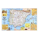 (48x72) Travelers Map Of Spain Portugal Map 1984 Side 1 Huge Wall Mural