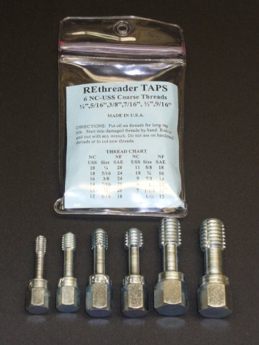 UNC Thread Chaser Rethreading Tap Set 1/4