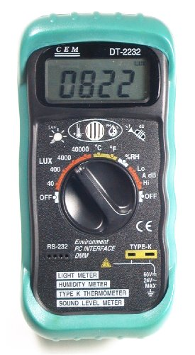 Ruby Electronics DT-2232 4-in-1 Digital Thermometer Light Humidity Sound Meter RS-232 Serial Port - 1