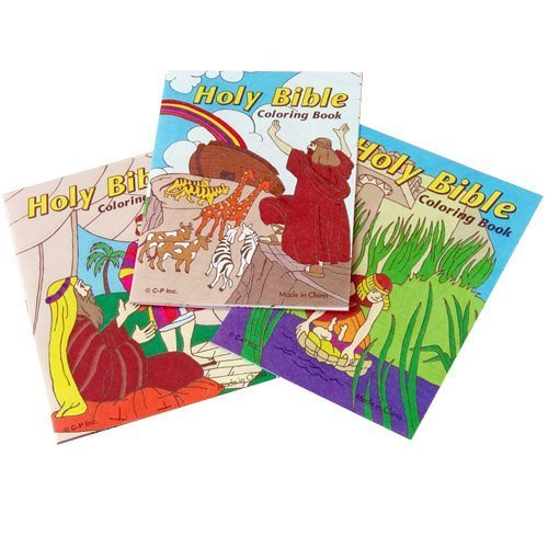 Lot Of 12 Assorted Bible Theme Mini Coloring Books - 1