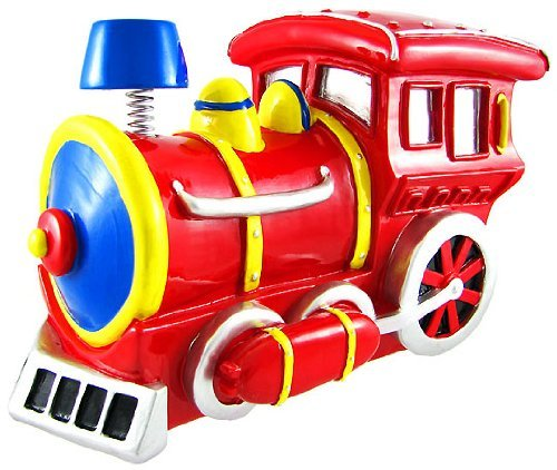 Bobble Smoke Stack Red Train Money Piggy Bank
