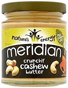 Meridian Natural Crunchy Cashew Butter 170 g (Pack of 3)