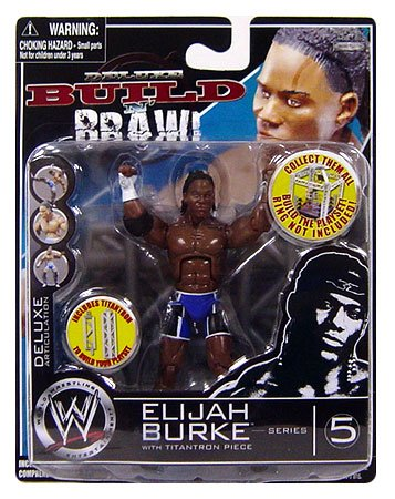 WWE Wrestling Build N' Brawl Series 5 Mini 4 Inch Action Figure Elijah Burke
