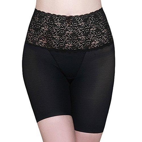 Burvogue Womens Spitze Hohe Taille Tummy Control Figurformend Langes Bein Slip jetzt bestellen