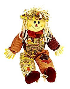 Fall/halloween Indoor/outdoor Decoration Sitting Scarecrow - 24 Inches from Darice