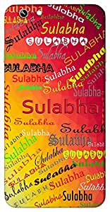 Sulabha (Easy, Natural) Name & Sign Printed All over customize & Personalized!! Protective back cover for your Smart Phone : Moto E-2 ( 2nd Gen )