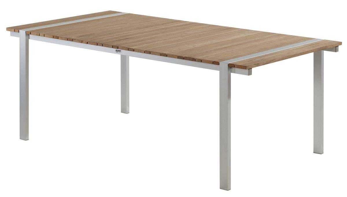 BALKE Tisch Venezuela mit Aluprofil, 200 x 100 cm, Aluminium und Teak bestellen
