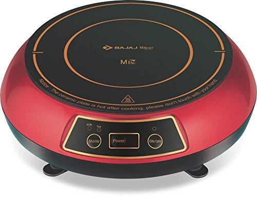Bajaj 1200-Watt Induction Cooktop (Red & Black)