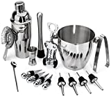 Buddy 16-Piece Stainless Steel Wine and Cocktail Bar Set with 1000 Bartender Recipes eBook