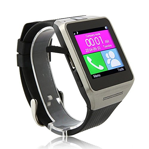 "Evershop®1.5"" LED Screen GV08 Smart Watch Outdoor Sport Bluetooth WristWatch (Black)"
