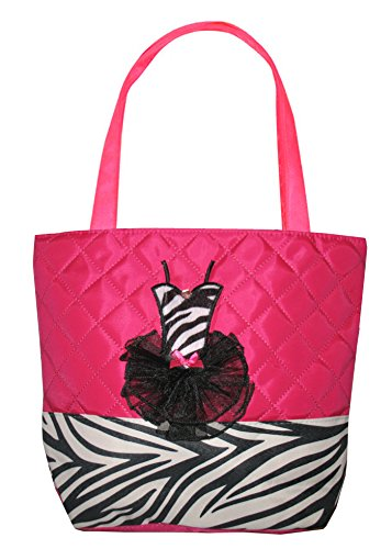 Tote Bag-Quilted Zebra- Hot Pink