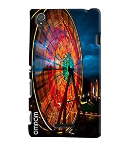 Omnam Sky Wheel Of London Printed Designer Back Cover Case For Sony Xperia T3