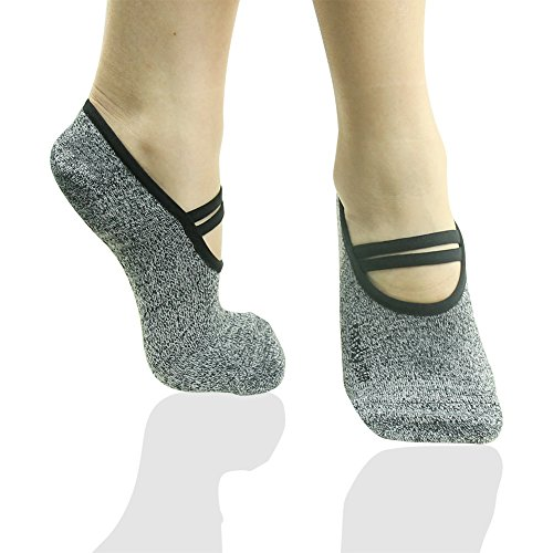 RANDY SUN Women's Ergonomic Socks For Pilates Barre Ballet Yoga Dance Thanksgiving Day Gift 1 Pair