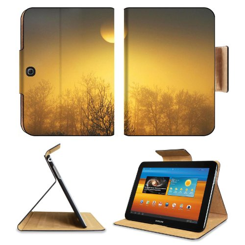 Orange Sun Over The Forest Samsung Galaxy Tab 3 10.1 Flip Case Stand Magnetic Cover Open Ports Customized Made To Order Support Ready Premium Deluxe Pu Leather 9 7/8 Inch (250Mm) X 7 1/4 Inch (183Mm) X 11/16 Inch (17Mm) Msd Galaxy Tab3 Cases Tab_10.1 Thre