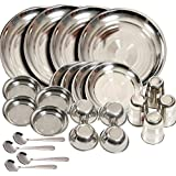 Shivom Stainless Steel Dinner Set Of 24 Pcs