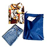 Yepal Lightweight Heavy-Duty Travel Laundry Bag Waterproof Handy Laundry Bag or Sundries Travel Organizer Blue