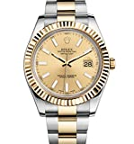 Rolex Datejust II 41 Steel & Yellow Gold Watch Champagne Dial 116333 Unworn