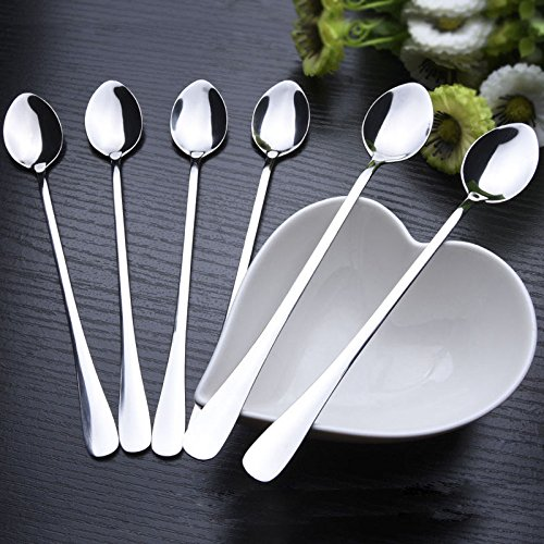 6x-77-long-stainless-steel-ice-cream-cocktail-teaspoons-coffee-soup-tea-spoons
