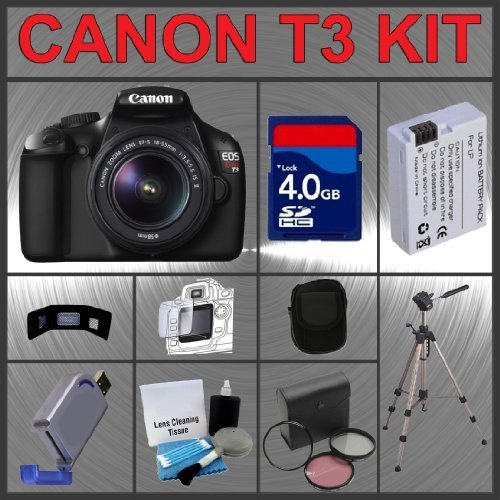 Canon EOS Rebel T3 12.2MP Digital Camera with EF-S 18-55mm IS II Lens + Tamron AF 75-300mm f/4.0-5.6 LD for Canon Digital SLR Cameras