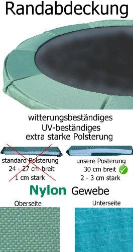 PROFI NYLON Randabdeckung Trampolin 300 - 310 cm Durchmesser = 10 ft -