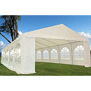 32'x16′ Heavy Duty Wedding Party Tent Canopy Carport White