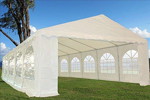 32'x16' Heavy Duty Wedding Party Tent Canopy Carport White photo