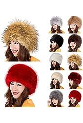 PATTONJIOE Ladies Faux Fox Fur Russian Cossack Style Winter Warm Hat