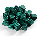 200 Gram / Lot Natural Malachite Quartz Crystal Gem Stone Tumbled Stone Healing Reiki Wicca Point Beads