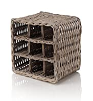 Rattan Wine Rack - 9 Bottles