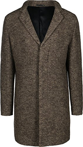 Selected SHDBrook Boucle Cappotto camel