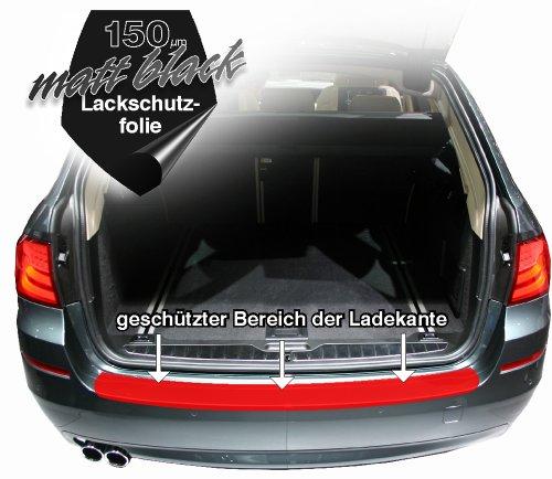 AfC S-LALK90985 Lackschutzfolie für Mercedes Benz E - Klasse Typ W211 Limousine / Baujahr ab 2002 bis 2009 Passform Ladekantenschutz matt schwarz / black 150µm