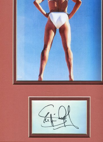 * STEFFI GRAF * sexy bikini autograph display / UACC RD # 212